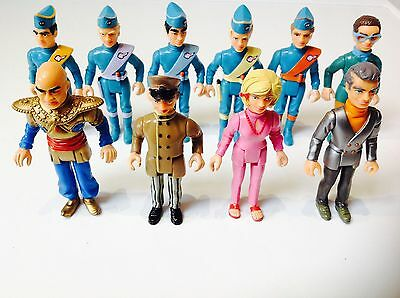 Matchbox Thunderbirds Figures - COMPLETE SET OF 10 - Tracy Island - 1992 Set