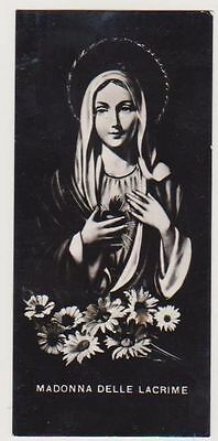 Antico Santino Madonna Delle Lacrime , 1950 Image Pieuse Holy Card