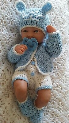 """Hand made clothes set for 14 """"LA new born berenguer /cup cake  reborn baby doll"""