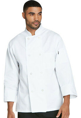 Unisex Classic 8 Button Chef Coat in White
