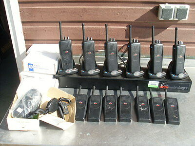 13 x TAIT ORCA 5010 2 Way Radios and 6 Way Charger 400-470mz