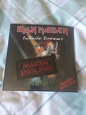 """Iron Maiden Infinite Dreams 7"""" Vinyl With Patch Sealed 1989"""