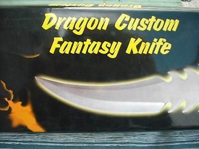 New In Box Dragon Custom Fantasy Knife And Serpent Guard Designed By Jim Frost