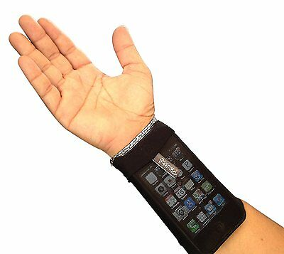 Phubby Wrist Cell Phone Holder & Wallet. Perfect For Sports - Running, Jogging,