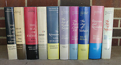10 Volume Set The Story of Civilization by Will & Ariel Durant 1st Edition VTG