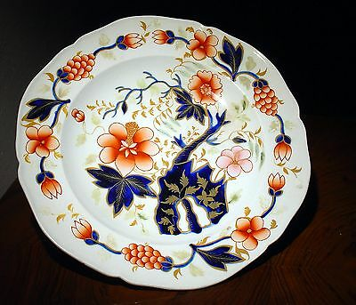 Assiette anglaise gaudy faïence Ironstone HARTLEY GREEN & Co LEEDS Pottery