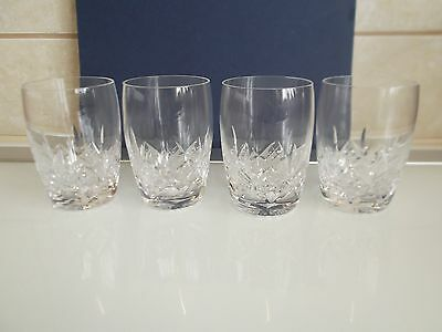 Stuart Crystal Barrel Tumblers x 4 Glengarry pattern.