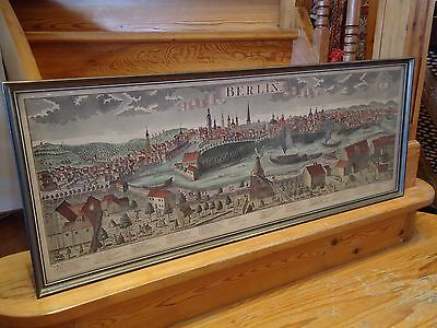 Antique City View Map Of Berlin Johann Friedrich Probst Copper Engraving 1755-68