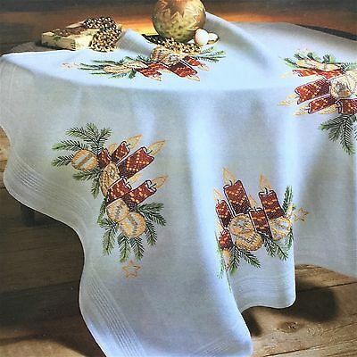 Deco-line Christmas Embroidery tablecloth kit 80 x 80cm multi coloured 20-011