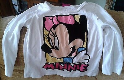 DISNEY at GEORGE white cotton Minnie Mouse long sleeve top age 12 to 18 months