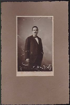 CHEVRETON ROMA Ritratto Uomo gentleman old photo foto cartonata cabinet