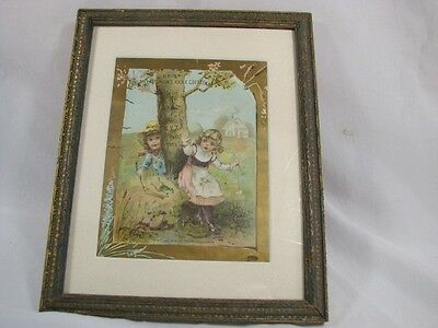 cc 1890 McLAUGHLIN'S COFFEE (Chicago) TRADE CARD - Framed - NICE!