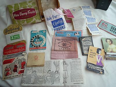 Vintage Collection Of Sewing Bits And Bobs From Grandma's Sewing Box