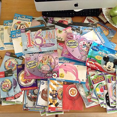 job lot 100+ shaped foil balloons and much more