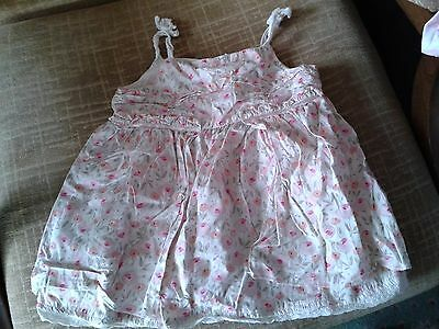 BABY BOUTIQUE floral cotton strappy sun dress age 12 to 18 months