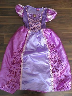 Girls TANGLED Rapunzel fancy dress costume outfit 7-8 years VGC Disney GEORGE