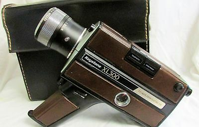 VINTAGE 1970s KEYSTONE SUPER 8 XL MOVIE CAMERA WITH CASE & MANUAL FOR DISPLAY