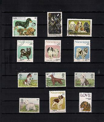 THEMATICS DOGS  22 stamps see 2 scans