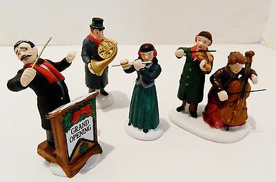 "Dept.56  Heritage  Village Accessory  "" Chamber Orchestra "" ,  Set Of 4 Fig."