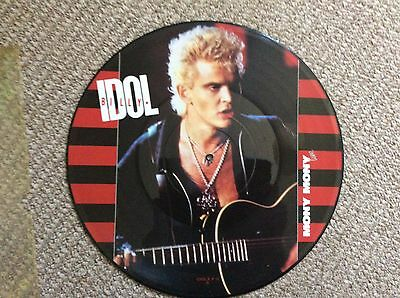 """Billy Idol-mony Mony -12"""" Picture Pic Disc-limited-metal-Metallica-kiss"""