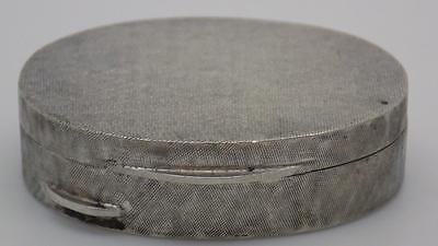 18g Vintage Solid Silver Pill / Snuff Box - Stamped - Made in Italy