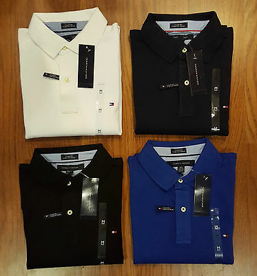 Tommy Hilfiger Short Sleeve Polo T-Shirts  - Blue Black Navy White M L XL XXL