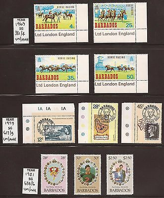 BARBADOS - 1969/81 - 3 Complete Sets - UM/MNH - See Scan for SG Nos.