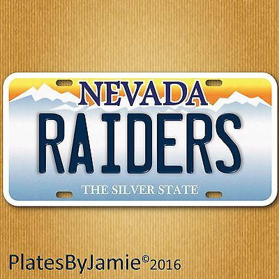Las Vegas Nevada Raiders  NFL Football Team Aluminum Vanity License Plate New