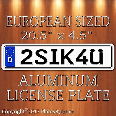 2SIK4U EURO STYLE Aluminum European License Plate Tag  Germany German 2SIK4ü