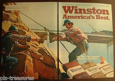 1982 Winston Cigarettes Men at work 2-pages Color AD