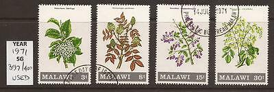 MALAWI - 1971 - SG397/400 - Flowering Shrubs and Trees - Full Set - Used