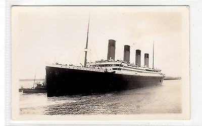 Picture postcard of Titanic leaving Southampton published after sinking (C28965)