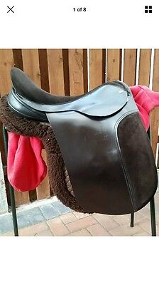 "18"" Black Country Show Hunter Saddle W-Extra Wide Fit"