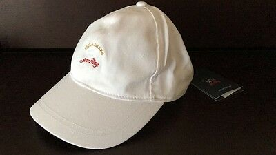 NEW Paul & Shark Hat Baseball Cap Cappello Berretto One Size WHITE CADETS