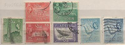 Aden QE2 1953 stamps to 50c used