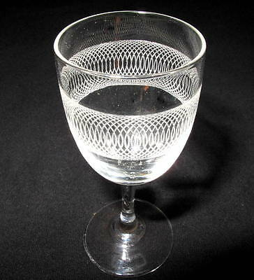 19th century Etched Glass Rummer