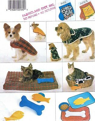 UC BUTTERICK Pattern 4226 Pet Coats Beds Toys Xmas Stockings Placemats XS S M L