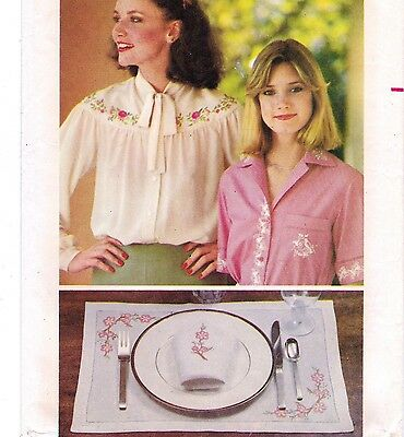 Vtg 70s UC Butterick Pattern #5496 Embroidery Transfers 25 Florals 26 Monograms