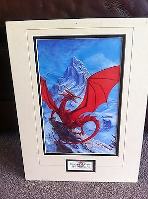 Dungeons and Dragons - Dragons Of Krynn Paul Jaquays Lithograph TSR Unframed