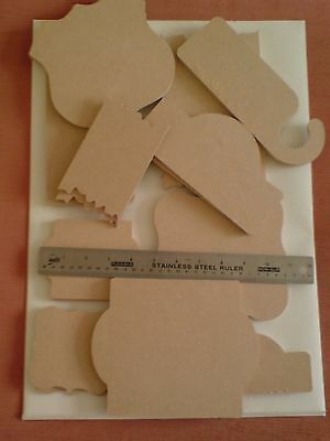 Stamps Away Wooden Elements MDF Mixed Shape Assortment  x 24 New.