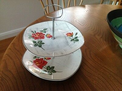 Midwinter two tier cake stand vintage