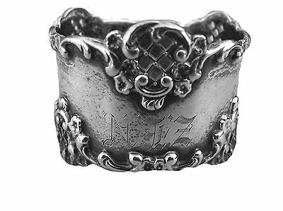 Sterling Silver Napkin Ring Monogram and Cutouts