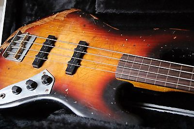 Jazz Bass fretless style Special artisan luthier Relic