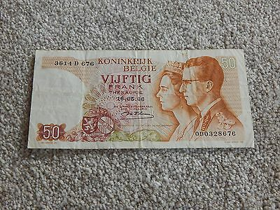 Belgium, 50 Francs banknote, used condition