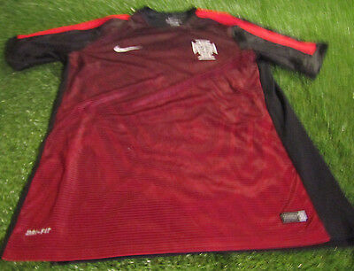 portugal portugese soccer football xl extra large mans nike dri fit light jersey