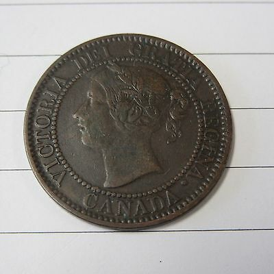 1859 Large Cent Canada Coin