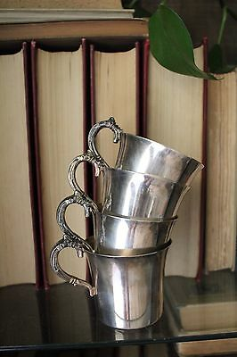Silver Plated Wallace Co Punch Cups Vintage