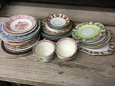 Mixed Job Lot Of Old Antique & Collectable Named China & Porcelain