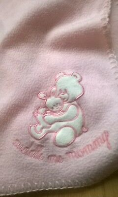 'Cuddle me Mommy' soft pink baby blanket