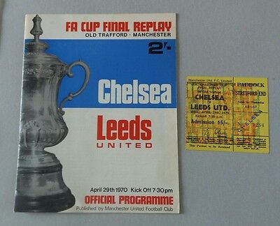 1970 fa cup final replay and Ticket